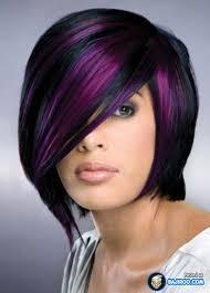 black hairstyles purple 50 stylish highlighted hairstyles for black hair 2017