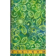 Lime Green Flowers - michael miller floral fling batik in caribbean lime green