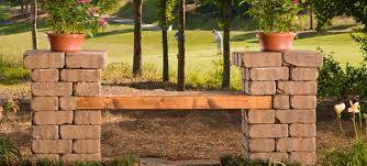 Wood Lawn Bench Plans by Build Your Own Patio Block Bench Learn How To Build A Bench From