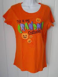 Halloween Shirt Costume by New Halloween Womens This Is My Grandma Costume Orange T Shirt