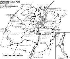 virginia state parks map douthat state park trailmeister