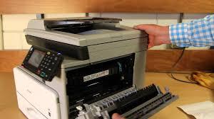 oplossen papierstoring op de ricoh mp 301spf mp c305spf youtube