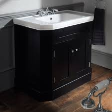 Empire Bathroom Vanities by Silverdale Empire Art Deco 920mm Wide Vanity Cabinet In Ebony Black