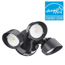 Home Depot Outdoor Led Lights Lithonia Lighting 3 Head Bronze Outdoor Dusk To Dawn Led Round