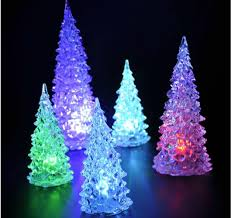 color changing white pine small christmas tree mood lamp led