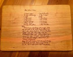 cutting board with recipe engraved engraved cutting boards hammers and hammer by carolinahighcotton