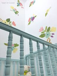 easy painted floral faux wallpaper lolly jane