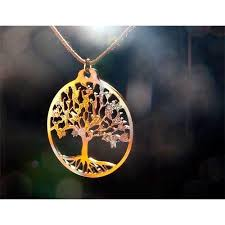tree of iridescent pendant necklace on adjustable