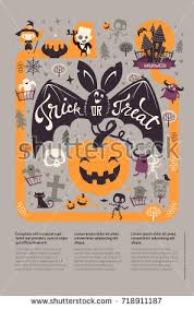 holiday happy halloween flyer template funny stock vector