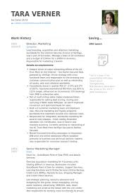 Marketing Resume Sample by Director Marketing Resume Samples Visualcv Resume Samples Database