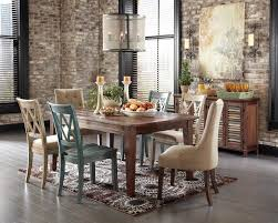 Rustic Leather Dining Chairs by Chair Style Set Of Brown Faux Farmhouse Rustic Leather Dining