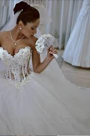 corset wedding sparkly gown corset wedding dress with beadings