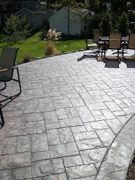 Backyard Concrete Patio by Concreations By Fordson Ashler Slate Stamped Concrete Patio