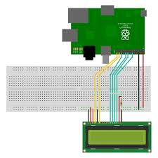 16 2 lcd module control using python