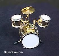 drum bum miscell brass drumset ornament
