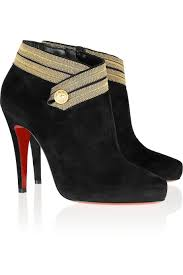 christian louboutin marychal 100 suede ankle boots in black lyst