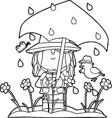 spring showers coloring page wecoloringpage