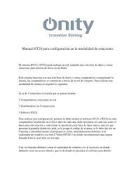 manual configuracion onity configuracion de estaciones en red