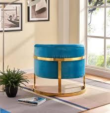accent chair 515 in aqua velvet by meridian