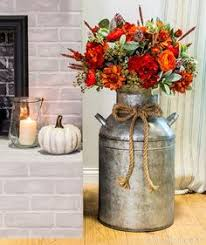 Old Milk Can Decorating Ideas Old Milk Can Autumn Arrangement Fall Autumn Pinterest
