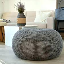 Ottoman Knitted Charming Knitted Pouf Ottoman Ottoman Cover Knitting Pattern Cable