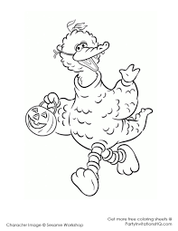 sesame street halloween coloring pages funycoloring