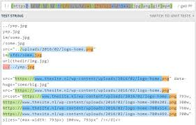 regex pattern website url php regex to get images on page including src set and data src