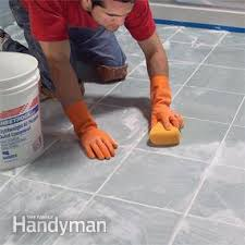 Tiling The Bathroom Floor - how to lay tile install a ceramic tile floor in the bathroom