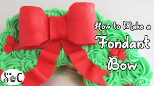 how to make a fondant bow sweetwater cakes youtube
