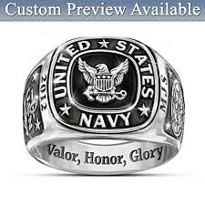 mens stainless steel rings navy personalized mens stainless steel ring