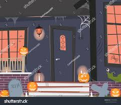 view entrance house decorated halloween vector stock vector