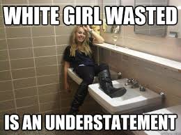 Wasted Meme - white girl wasted is an understatement gardner quickmeme