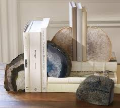 Unique Bookends Decor Exquisite Geode Bookends Lovely Pink Book Ends