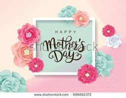 s day greeting cards mothers day greeting card blossom flowers stock vector 606662372