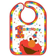 1st birthday bib sesame 1st birthday elmo turns one plastic
