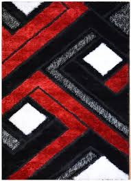 Area Rugs Modern Design Royal Collection Black And White Contemporary Abstract