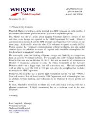 ideas collection sample recommendation letter for volunteer award