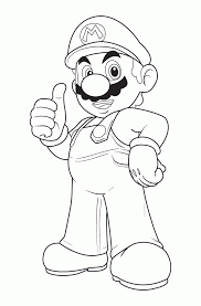 mario characters pictures coloring