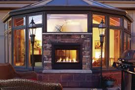 dual sided fireplace binhminh decoration