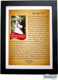 parents gift wedding of the thank you gift wedding for and or