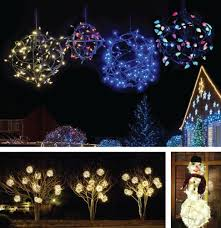 Outdoor Christmas Tree Made Of Lights by Holiday Light Balls Made Easy With New Decoshape
