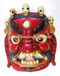 wall masks crafted wooden mask of bhairab mahakal wall hanging made in
