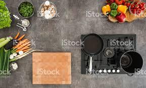 cuisine avec gaziniere vue de dessus de comptoir de cuisine avec cuisinière photos et