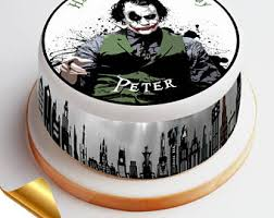 joker cake topper etsy