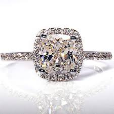 womens engagement rings engagement rings for women 19 ct cushion cut womens engagement
