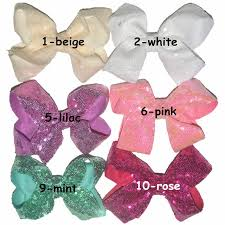 fabric bows 20pcs lot handmade sequin fabric bows with colorful craft