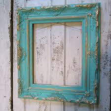 wood frame wall decor aqua wood frame large ornate shabby cottage painted custom