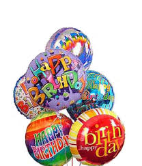 birthday balloons at from you flowers