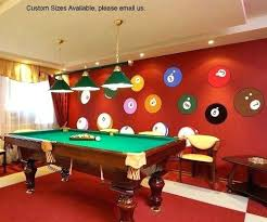 pool table wall art pool table wall art billiard room wall decor home vinyl wall art