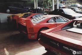 retro ferrari 14 1993 monaco supercar spotting photos showing two ferrari f40s a